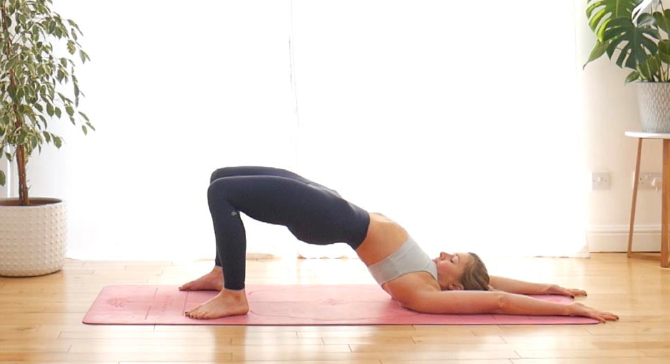 Yoga bridge pose (Setu Bandha Sarvangasasna)