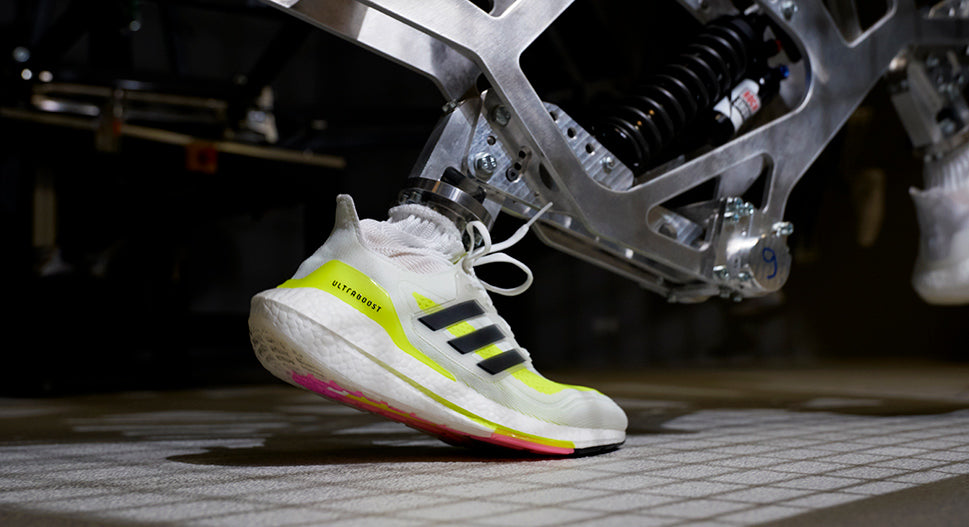 Machine testing the adidas ultraboost 21 running shoes