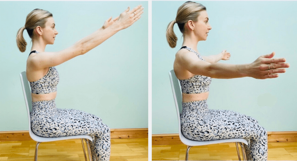 arm circles pilates stretch to relieve tension