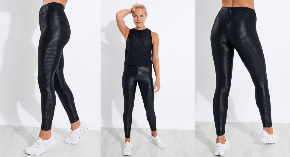 koral lustrous gouffre high waisted legging - black