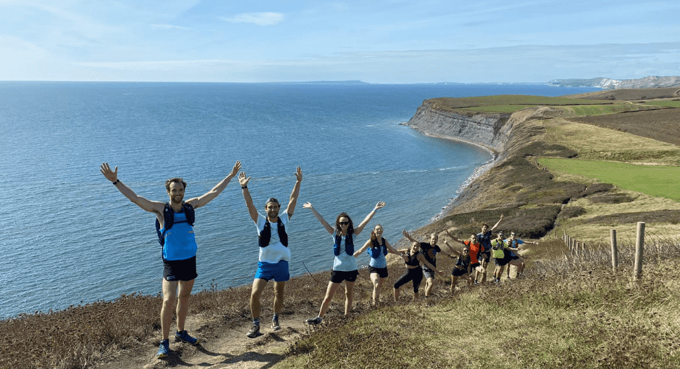 trail running on the jurassic coast