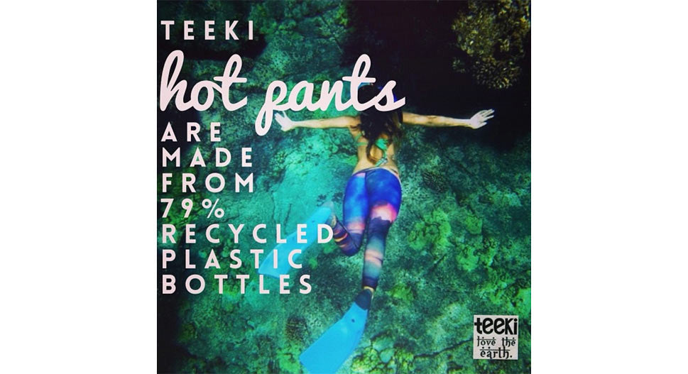 Teeki Hot Pants made from 79% recycled water bottles