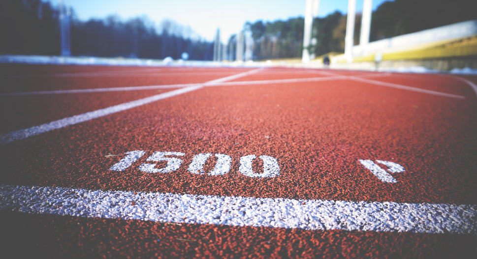 interval training on a track