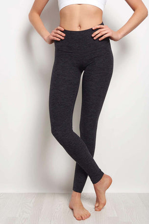 Beyond Yoga High Waist Long Legging - Spacedye Black Steel image 1 - The Sports Edit