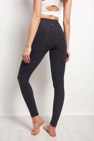 Beyond Yoga High Waist Long Legging - Spacedye Black Steel image 2 - The Sports Edit