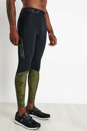 6d684701a3ccf 2XU Accelerate Compression Tights with Storage - Black/Camo image 1 - The  Sports Edit