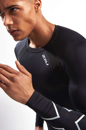 2XU Men's Long Sleeve Compression Top image 3 - The Sports Edit