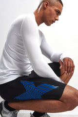 2XU Accelerate Compression Short - Black/Blue image 3 - The Sports Edit