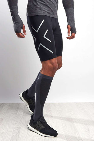 2XU Accelerate Compression Shorts - Black/Silver image 1 - The Sports Edit