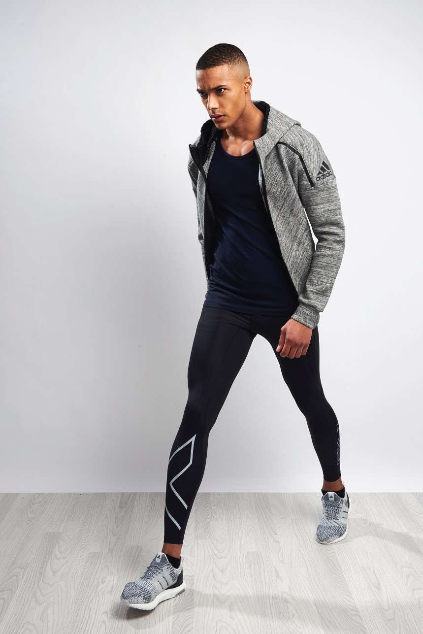 2XU Accelerate Compression Tights Blk/Silver image 4 - The Sports Edit