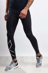 2XU Accelerate Compression Tights Blk/Silver image 1 - The Sports Edit
