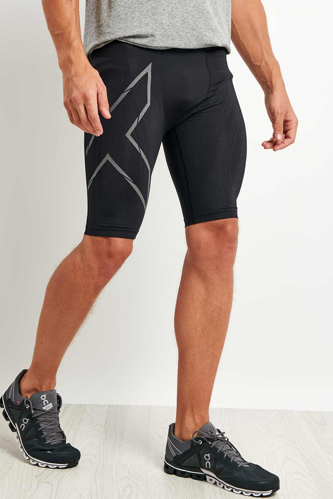 ccf1bcdbdea5d 2XU | MCS Run Compression Short Black/Reflect | The Sports Edit