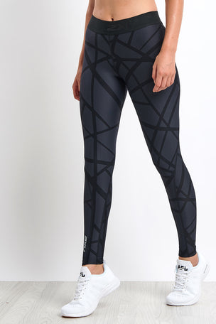 2XU Print Accelerate Compression Tights image 1 - The Sports Edit