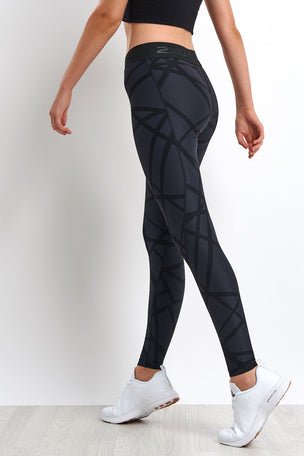 2XU Print Accelerate Compression Tights image 2 - The Sports Edit