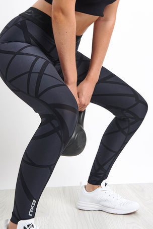 2XU Print Accelerate Compression Tights image 3 - The Sports Edit