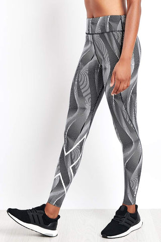 2XU Mid Rise Print 7/8 Compression Tights image 1 - The Sports Edit