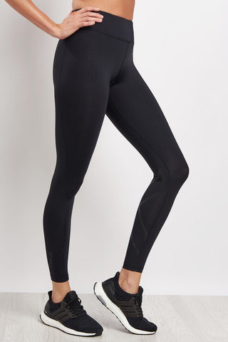 2XU 7/8 Mid Rise Compression Tights - Black/Nero image 1 - The Sports Edit