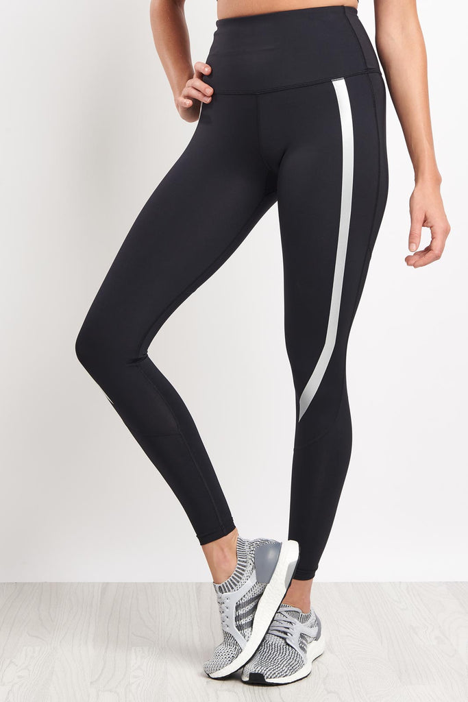1b35e1032f 2XU High Rise Compression Tights - Black/Silver image 1 - The Sports Edit