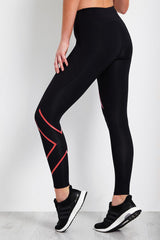 2XU Mid-Rise Compression Tight Black/Coral image 2 - The Sports Edit