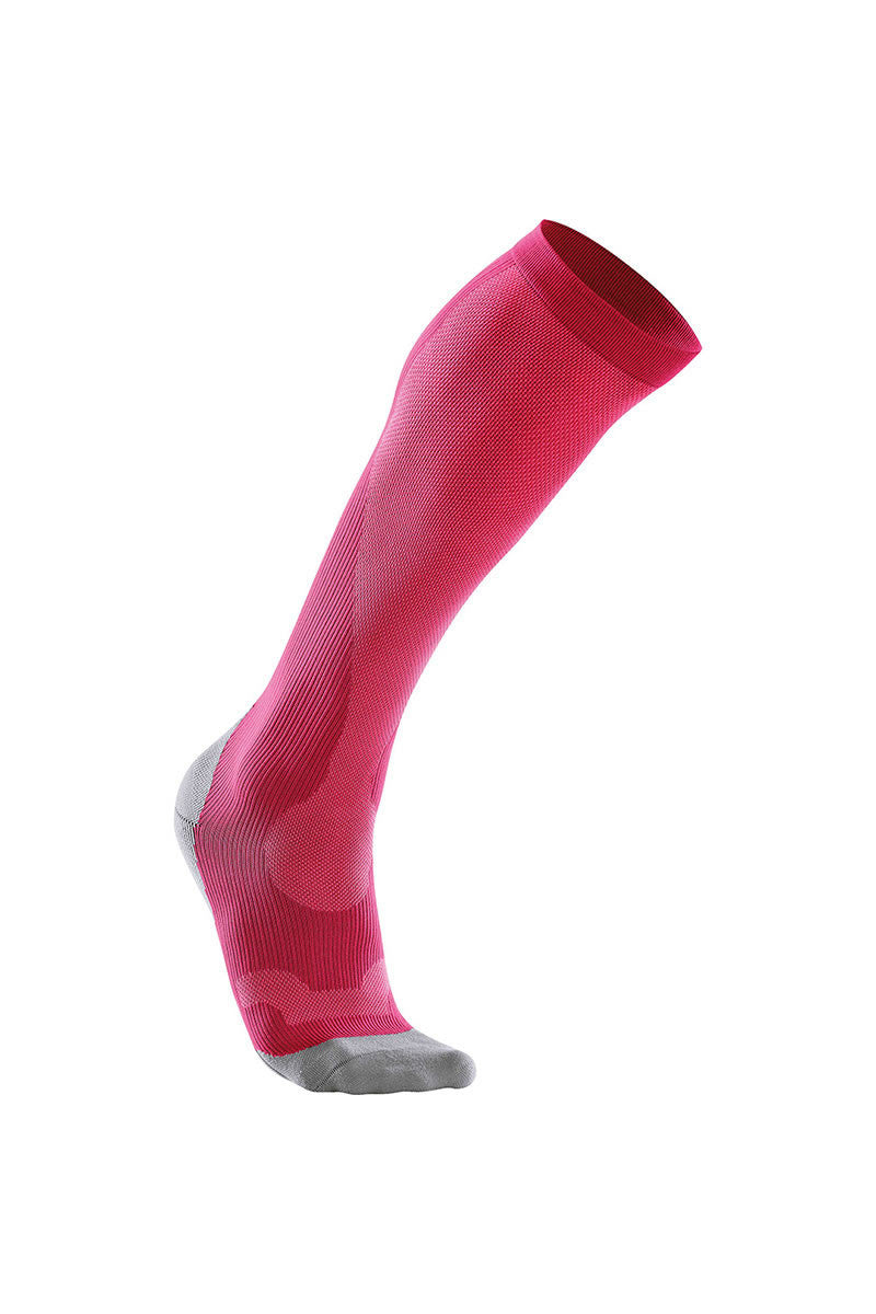 2XU Women's Perform Compression Socks - Hot Pink image 1 - The Sports Edit