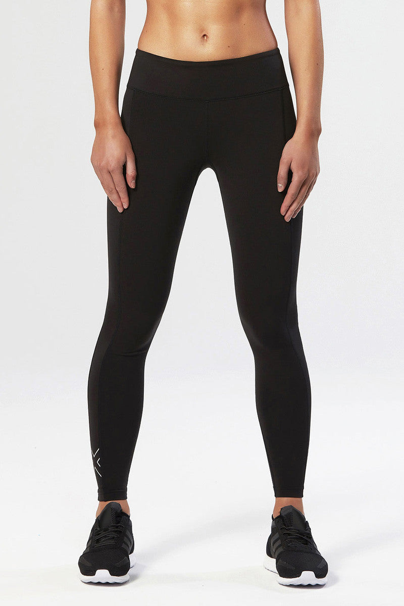2XU Active Compression Tights Black/Silver image 2 - The Sports Edit