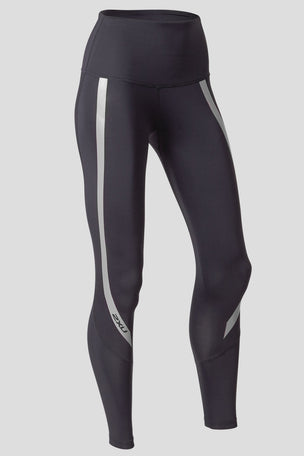 2XU High Rise Compression Tights - Black/Silver image 5 - The Sports Edit