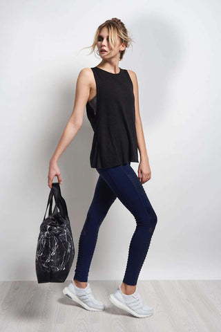 Blue Life Fit Open Back Tank - Jet Black image 1 - The Sports Edit