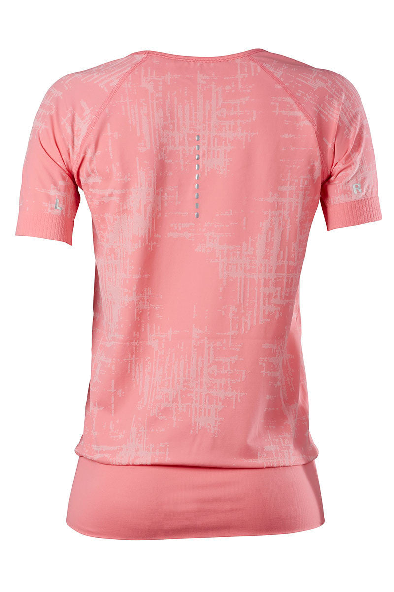 Falke T-shirt Wide Neck - Ice Cream Pink image 2 - The Sports Edit
