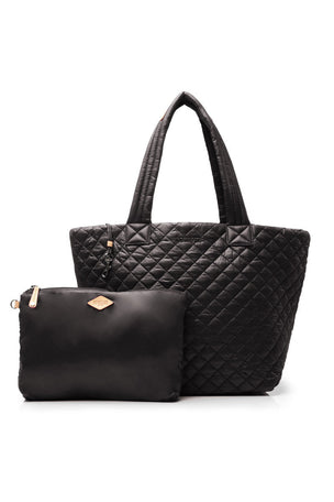 MZ Wallace Medium Metro Tote - Black Oxford image 4 - The Sports Edit