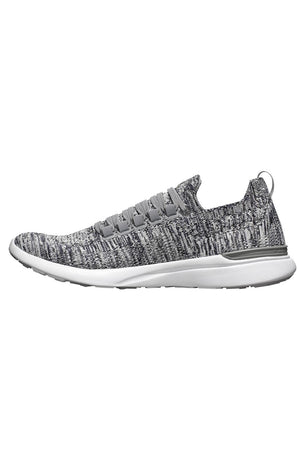 APL TechLoom Breeze - Heather Grey/Pristine/White image 2 - The Sports Edit