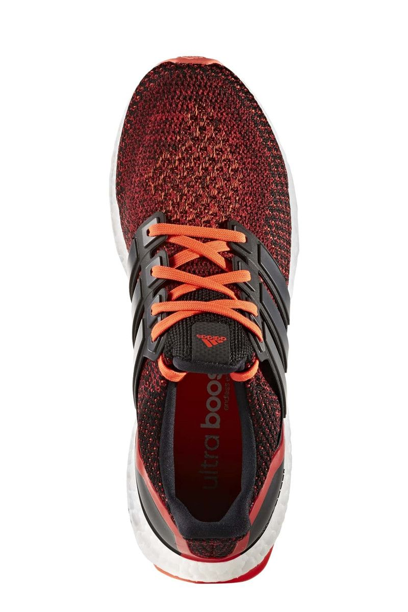 ADIDAS Ultra Boost Core Black/ Red - Men's image 3 - The Sports Edit