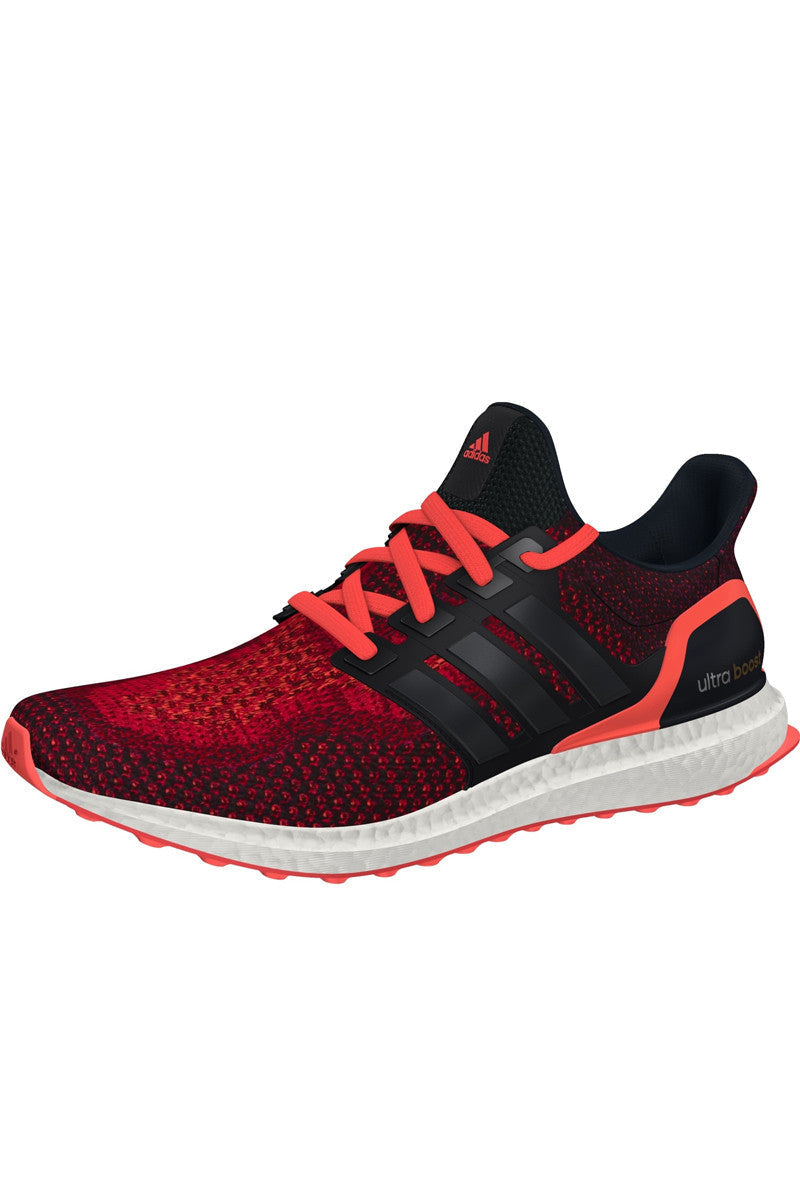 ADIDAS Ultra Boost Core Black/ Red - Men's image 5 - The Sports Edit