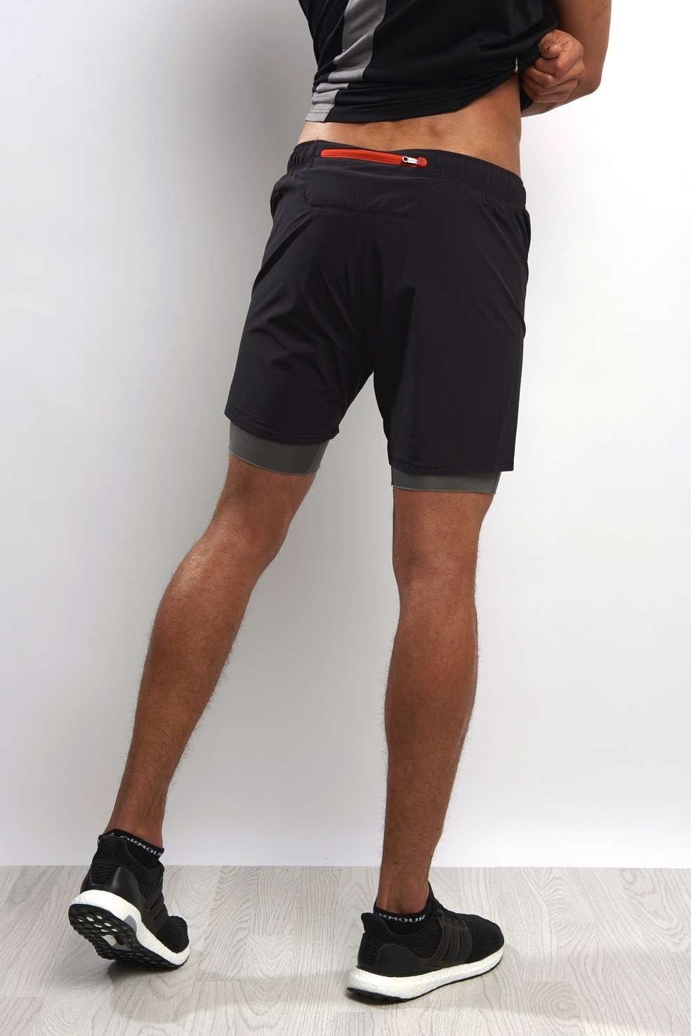 Ashmei 2 in 1 Shorts - Black image 2 - The Sports Edit