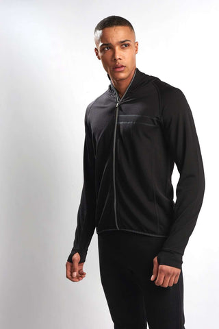 Ashmei Run Hooded Sweatshirt - Black image 1 - The Sports Edit
