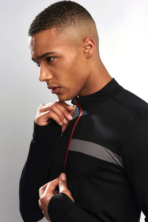 Ashmei Long Sleeve Classic Jersey Top - Black image 2 - The Sports Edit
