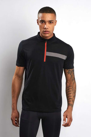Ashmei Short Sleeve Classic Jersey Tee - Black image 1 - The Sports Edit