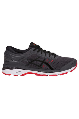 ASICS GEL-KAYANO 24 - Grey/Black/Red - Men's image 1 - The Sports Edit