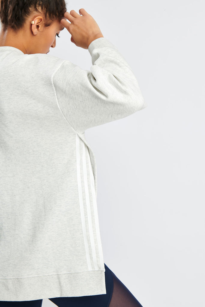 637c506ae1fe7 ADIDAS Wanderlust Second Layer Sweatshirt - White Melange image 4 - The  Sports Edit