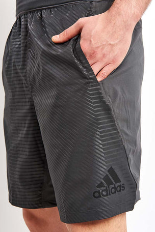 ADIDAS 4KRFT Woven 10-inch Embossed Graphic Shorts image 3 - The Sports Edit
