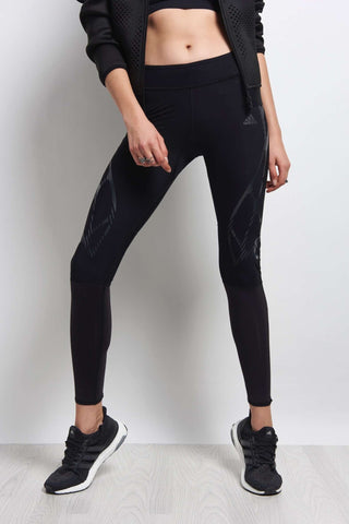 ADIDAS Adizero SprintWeb Long Tights - Black image 1 - The Sports Edit