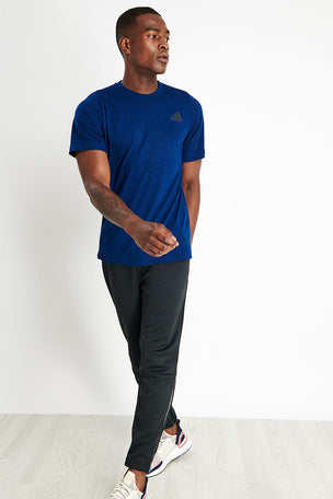 ADIDAS FreeLift Sport Prime Heather T-Shirt - Navy image 2 - The Sports Edit