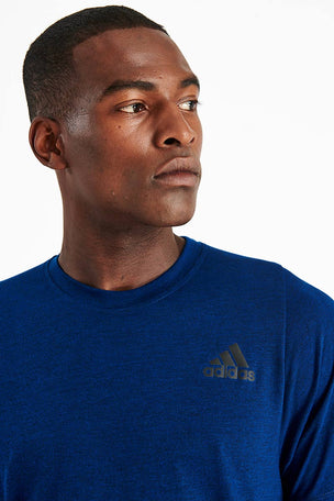 ADIDAS FreeLift Sport Prime Heather T-Shirt - Navy image 4 - The Sports Edit