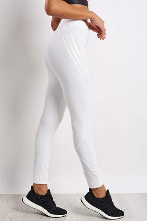 ADIDAS Alphaskin Tech Climachill Long Tights - White image 2 - The Sports Edit