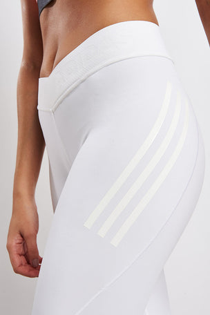 ADIDAS Alphaskin Tech Climachill Long Tights - White image 3 - The Sports Edit