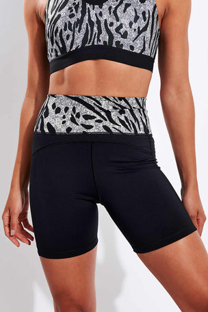Adidas Believe This High Waisted Shorts - Black image 1 - The Sports Edit