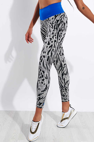 Adidas Believe This 2.0 Iterations High Waisted 7/8 Leggings - Grey Four/Black image 1 - The Sports Edit