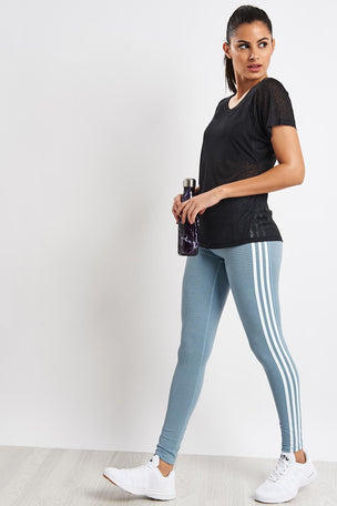 ADIDAS Believe This 3-Stripes Tights - Legend Ink image 4 - The Sports Edit
