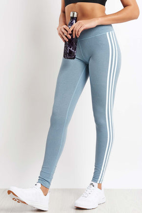 2442eb02fa5a6 ADIDAS Believe This 3-Stripes Tights - Legend Ink image 1 - The Sports Edit