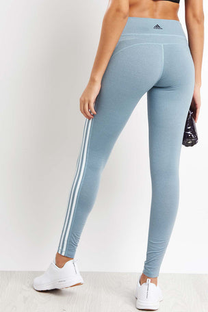 ADIDAS Believe This 3-Stripes Tights - Legend Ink image 2 - The Sports Edit