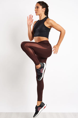 ADIDAS Believe This Tights - Night Red image 4 - The Sports Edit